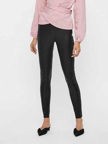 Stretchable брюки кожаные
