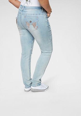 Узкие джинсы »mit блестящие каме...