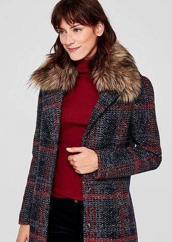 S.OLIVER RED LABEL Пальто шерстяное с искусственная Fur-K...