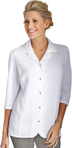 CLASSIC BASICS Блуза в bügelleichter Crinkle-Qua...