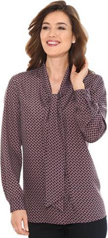 CLASSIC BASICS Блуза с Schluppe на Umlegekragen