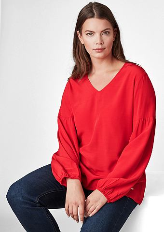 Блузка-рубашка с Ballonärmeln