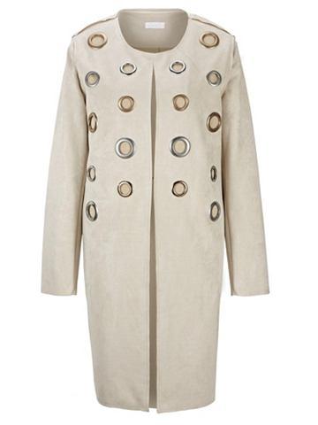 Пальто в имитация замша