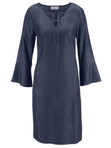Платье джинсовое с Schnürrung на ...