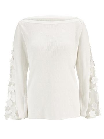 Пуловер с кружева an den рукавами