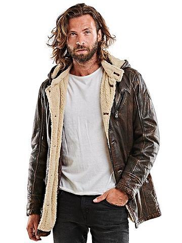 EMILIO ADANI Куртка кожаная