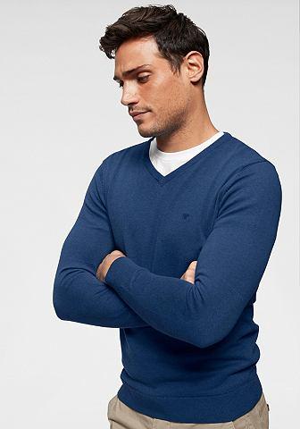 TOM TAILOR Пуловер с V-образным вырезом