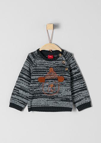 Трикотажный пуловер с Bären-Artwo...