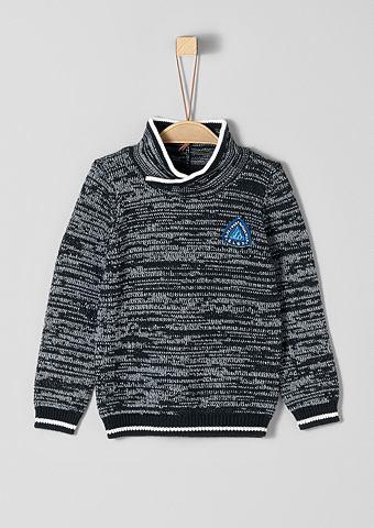 Трикотажный пуловер с воротник для Jun...