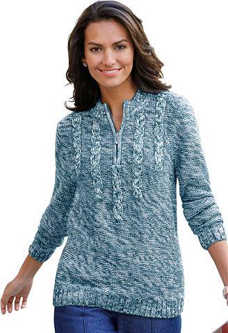 Пуловер с стежка в спереди