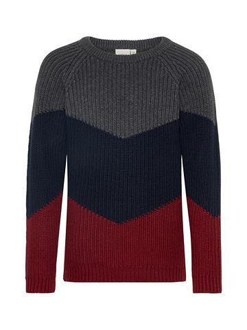 Colourblocking вязаный пуловер