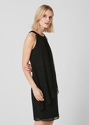 С открытыми плечами платье с сетка