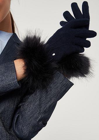 Перчатки вязаные с Fake-Fur Besatz