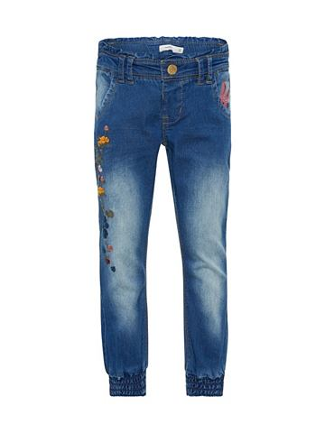 NAME IT Regular форма цветочнaя вышивка джинсы...