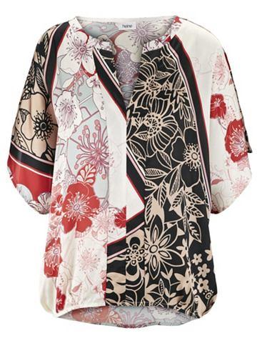 heine CASUAL Блузка с набивным рисунком в сочетание...