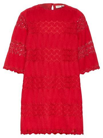 Gewebtes A-Linien Falten платье