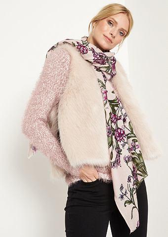 COMMA Тонкий шарф с цветочным узором