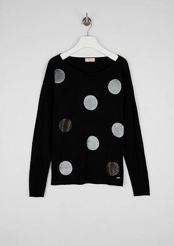 Пуловер с Glitzer-Artwork