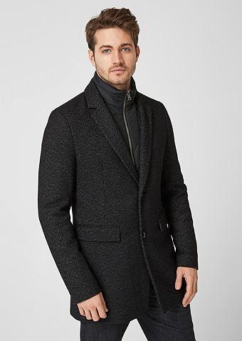 Классический пальто шерстяное с Insert...