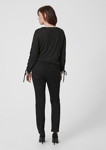 Curvy узкий Leg: Black джинсы