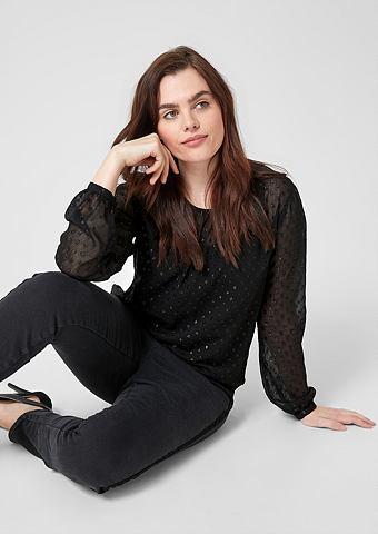 Блузка шифоновая с плетеный узор