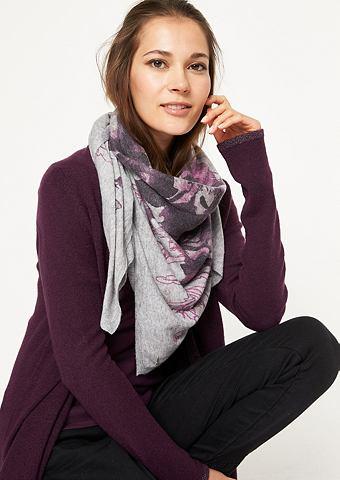 Тонкий шарф с цветочным узором