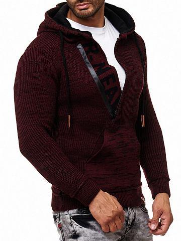 Пуловер в имитация вязки