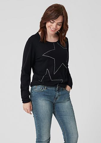 Трикотажный пуловер с Sternen