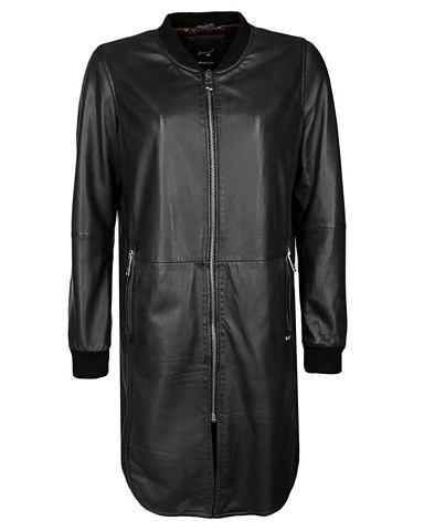 Пальто кожаное с Strickkragen »L...