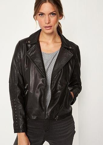 COMMA Куртка кожаная в rockigen Bikerlook