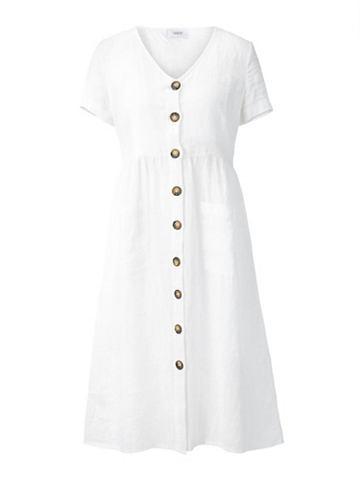 heine CASUAL Платье льняное с Kontrastknöpfen