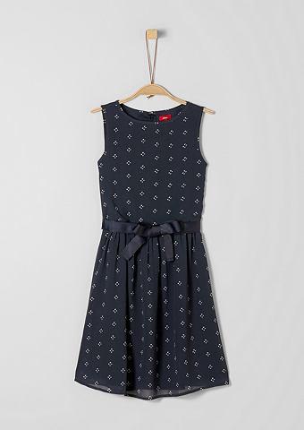 S.OLIVER RED LABEL JUNIOR Feines платье шифоновое с узор для M&a...