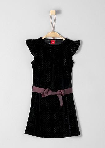 S.OLIVER RED LABEL JUNIOR Праздничное платье бархатное с ремень ...