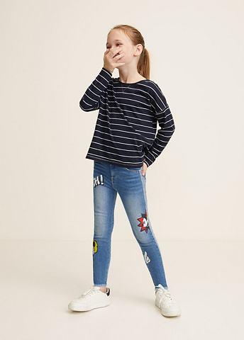 MANGO KIDS Облегающий джинсы Mickey Mouse