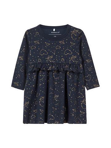 NAME IT Baumwoll Weltraumprint платье