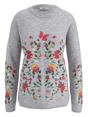 heine CASUAL Пуловер с цветочнaя вышивка