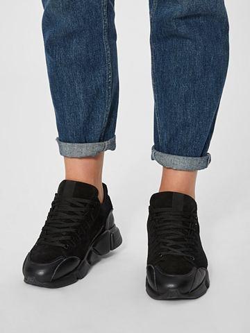 Кожаная кроссовки