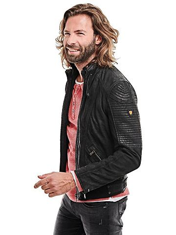EMILIO ADANI Байкер-стиль куртка кожаная