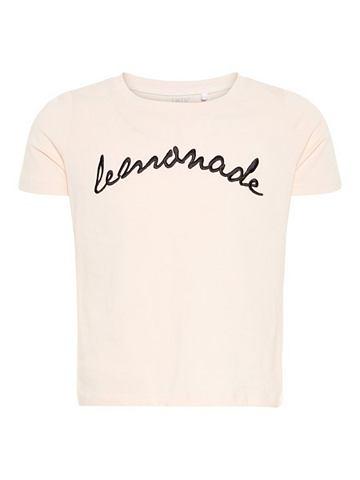 NAME IT Вышитый шорты форма футболка