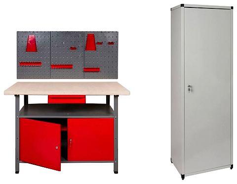 KREHER Рабочий стол 120 cm 2x дверь 1x Werkst...