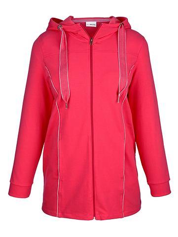 MIAMODA Спортивный свитер с модный широкий шну...