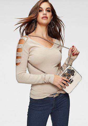 MELROSE Пуловер с V-образным вырезом
