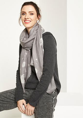 Нежный шарф с звездный узор