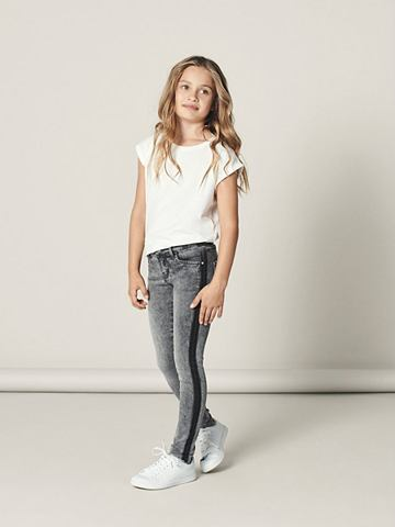 NAME IT Fransensaum облегающий форма джинсы
