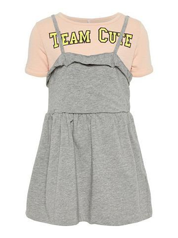 С узором футболка платье