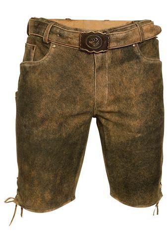MARJO Брюки кожаные из национального костюма...