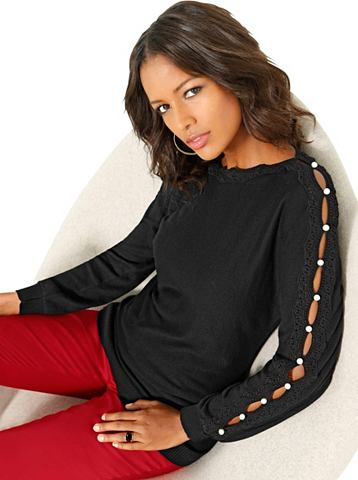ALESSA W. Пуловер с кружева