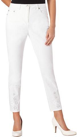 ALESSA W. 7/8 брюки с Blütenstickerei