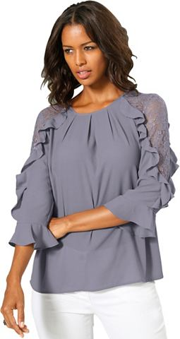 Блуза с женский Volant-Verzierung
