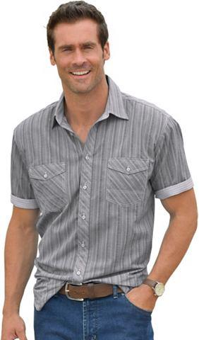 Рубашка с коротким рукавом в Seersucke...